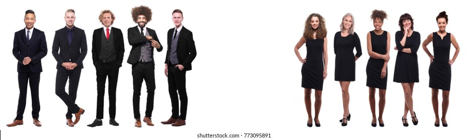 Business people in black