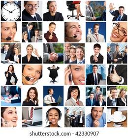 Business people. Businessmen, business women, teams