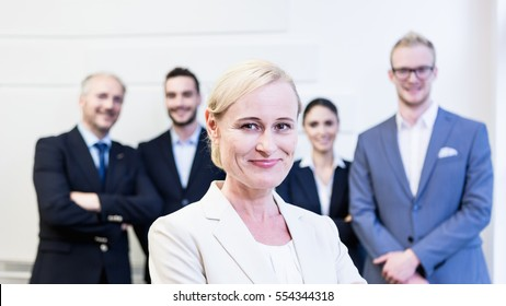 Business people, Caucasian European team in office environment