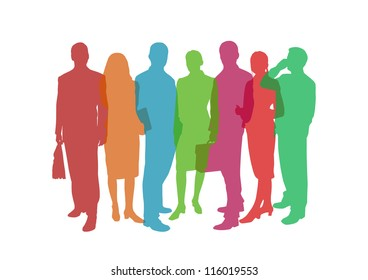 business people colorful illustration
