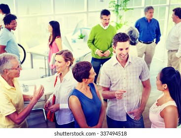 Business People Communication Diversity Working Office Concept