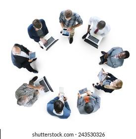 Business People Corporate Digital Communication Concept