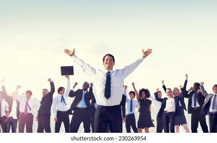 Business People Corporate Success Concept