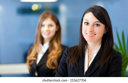 Business people: couple of businesswomen
