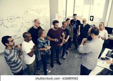 Business people creative talking discussion ideas