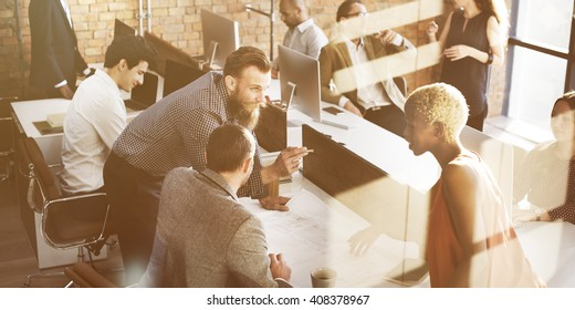 Business People Design Architecture Ideas Concept