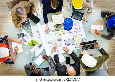 Business People Designers Architects Working Concept