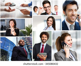 Business people in different situations