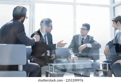 business people discuss new opportunities at a business meeting