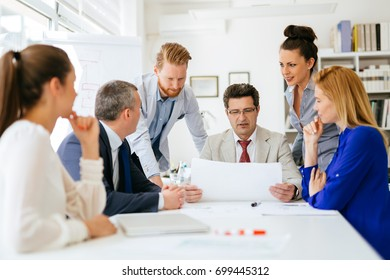 Business people discussing future plans