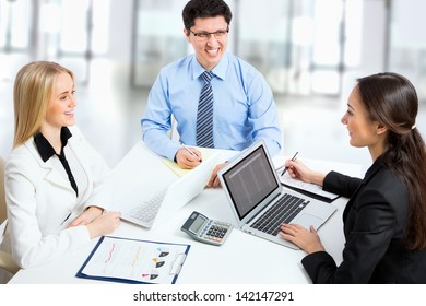 Business people discussing a new project in the office
