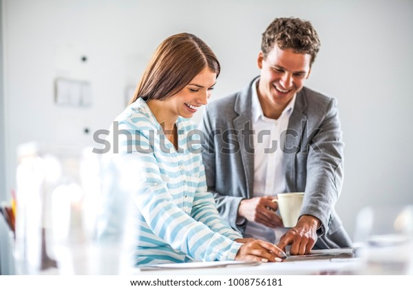 Business people discussing in office
