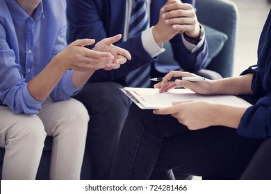 Business people discussion advisor working concept