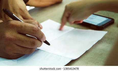 Business people discussion working concept Background