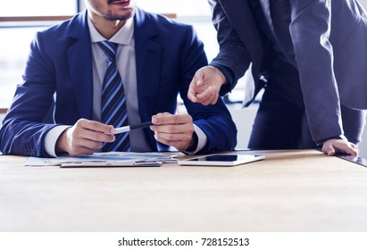 Business people discussion working concept