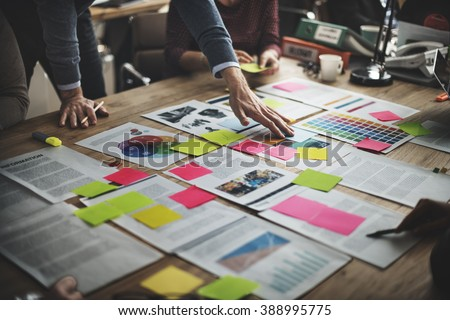 Business People Diverse Brainstorm Meeting Concept