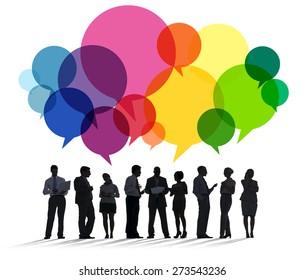 Business People Diversity Talking Communication Concept