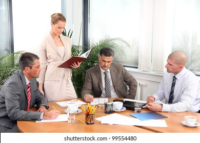 Business people during a meeting in office