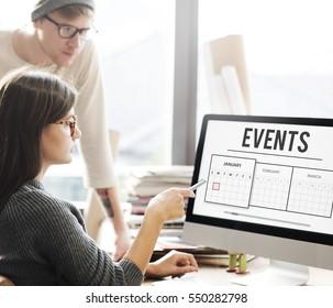 Business People Events Management Concept