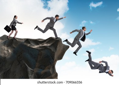 Image result for images of running off a cliff