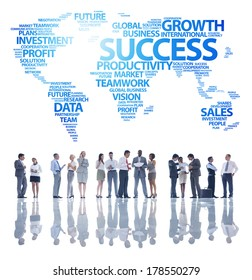 Business People and Global Success
