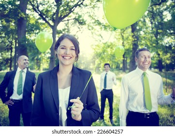 Business People Green Business Environmental Conservation Concept
