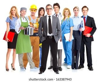 Business people group isolated on white background.