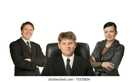 Business people. Group of people it is isolated on a white background.