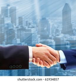 Business people. Handshake of businessmen