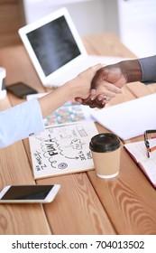Business people handshake. Meeting