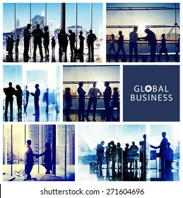 Business People Handshake Meeting Communication Office Concept