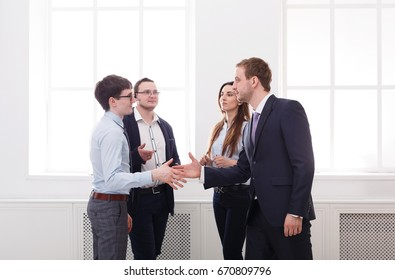 Business People Handshake, Successfull Meeting and Teamwork Concept.