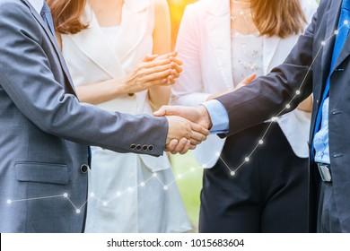 Business People Handshake.success Business.