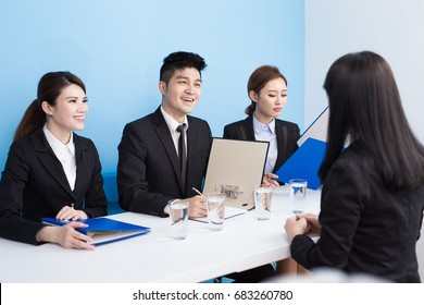 business people with interview in the office