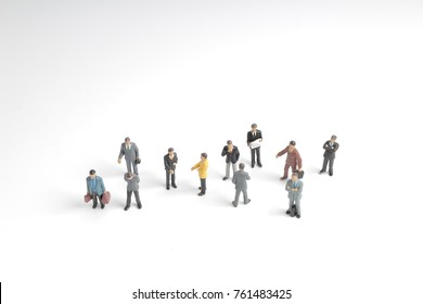 business people isolated on white back ground