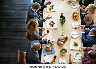Business People Lunch Celebration Together Corporate Concept - Shutterstock ID 432019903