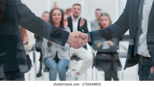 business people meet each other with a handshake