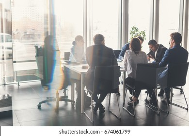 Business People Meeting Communication Discussion Working Office Concept