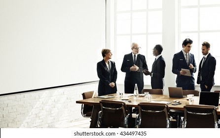 Business People Meeting Conference Discussion Brainstorming Concept