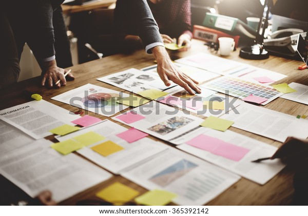 Concepto de ideas de diseño para personas de negocios