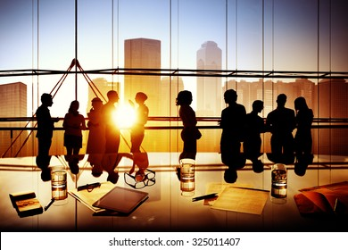 Business People Meeting Discussion Corporate Team Concept