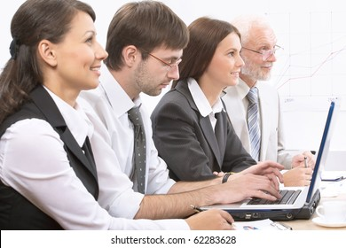 Business people at a meeting at office
