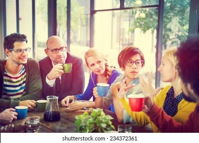 Business People Meeting Seminar Sharing Talking Thinking Concept