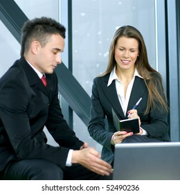 Business people in modern office interior