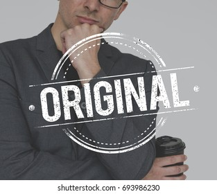 Business People with Original Premium Quality Stamp Word Graphic