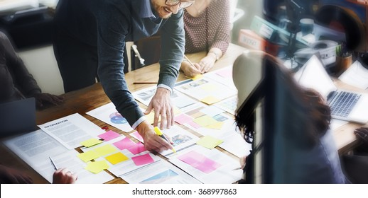 Business People Planning Strategy Analysis Office Concept - Shutterstock ID 368997863