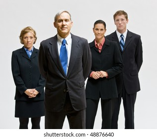Business people posing together