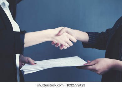 business people shaking hand