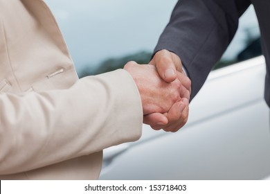 Business people shaking hands after agreement