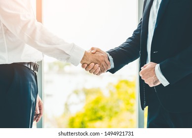 Business people shaking hands. Partnership and business agreement.  Business and office concept.